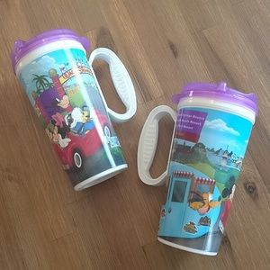 Disney refillable coffee drink mugs cups NEW